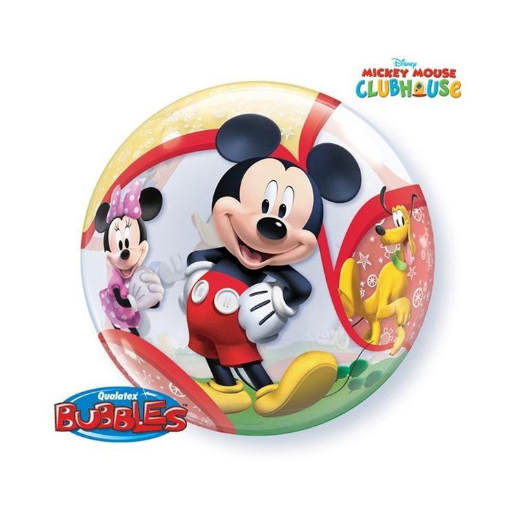 Globo Burbuja 2 Caras Mickey Mouse 56 cm