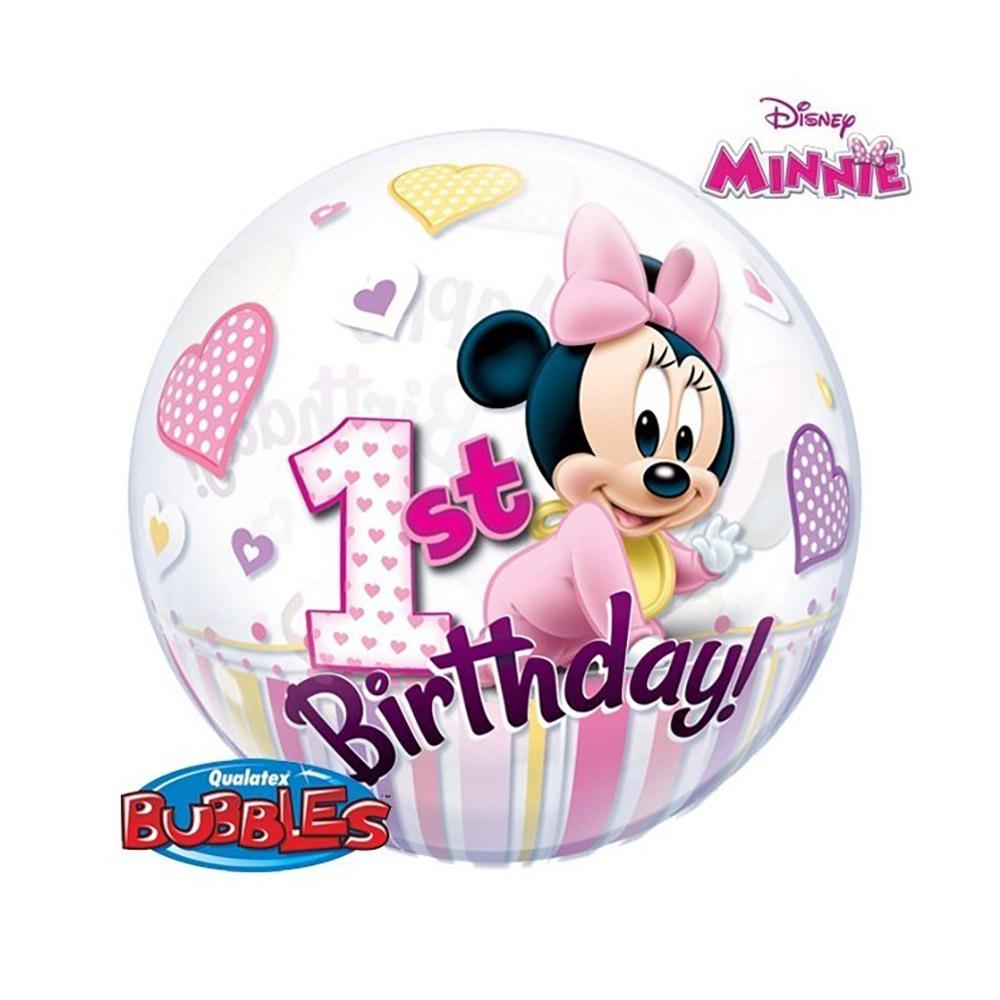 Globo Burbuja 2 Caras Baby Minnie Mouse 56 cm