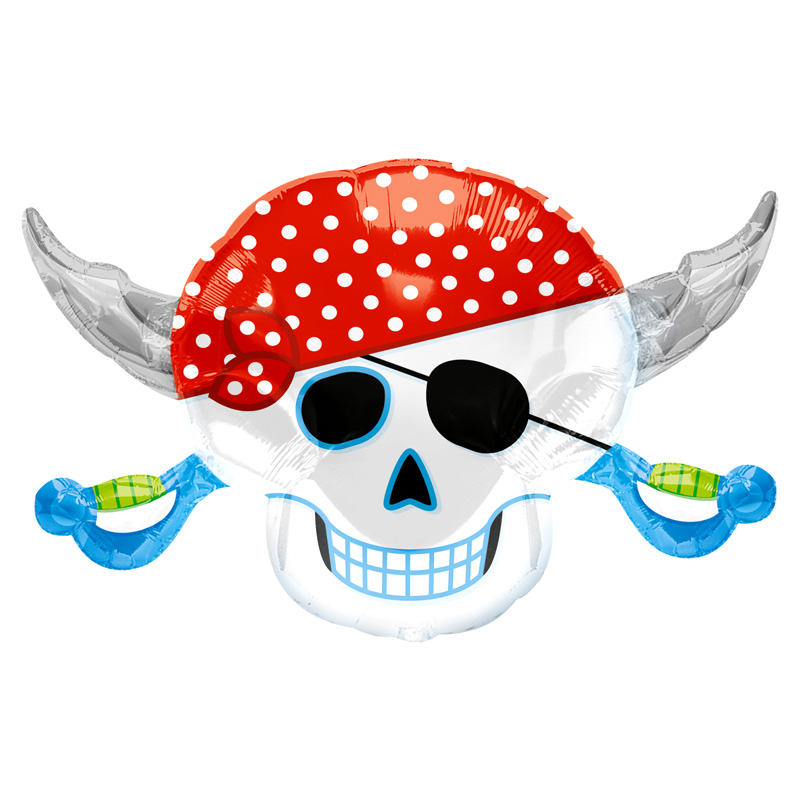 Globo Calavera Pirata 71 cm