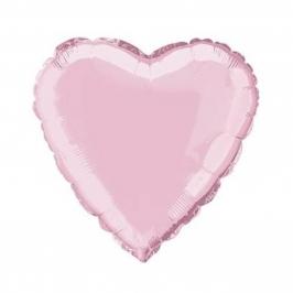 Globo Corazón Rosa Claro 45 cm