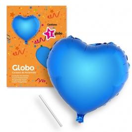 Globo Corazón Azul 44 cm