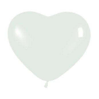Globos con Forma de Corazón Blanco 10 Unidades