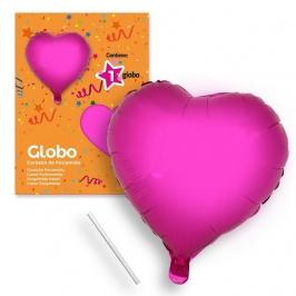 Globo corazón fucsia 44 cm