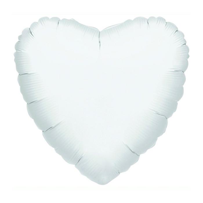 Globo Corazón Gigante Blanco 78 cm
