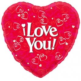 Globo Corazón I Love You 45cm
