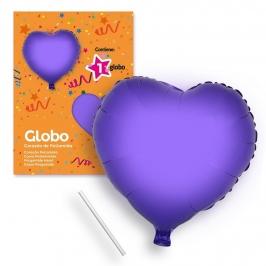 Globo Corazón Lila 44 cm