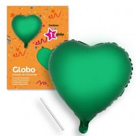 Globo Corazón Verde 44 cm