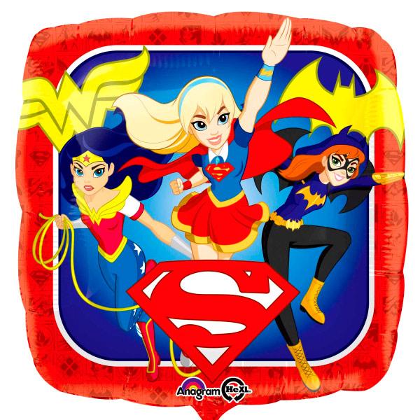 Globo Cuadrado Super Hero Girls 43 cm