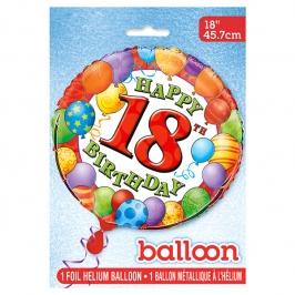 Globo de Foil 18 Cumpleaños 45 cm