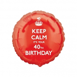 Globo de Foil 40 Años Keep Calm