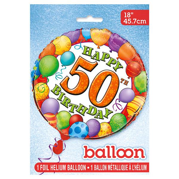 Globo de Foil 50 Cumpleaños 45 cm