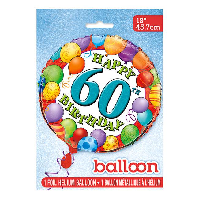 Globo de Foil 60 Cumpleaños 45 cm