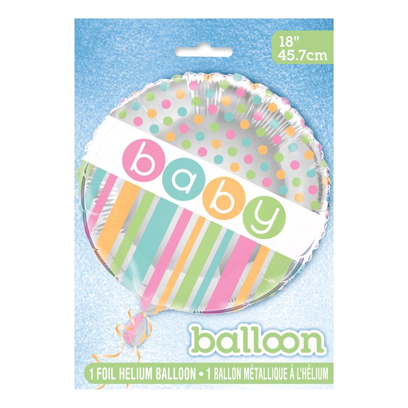 Globo de Foil Baby Colores Pastel 45 cm