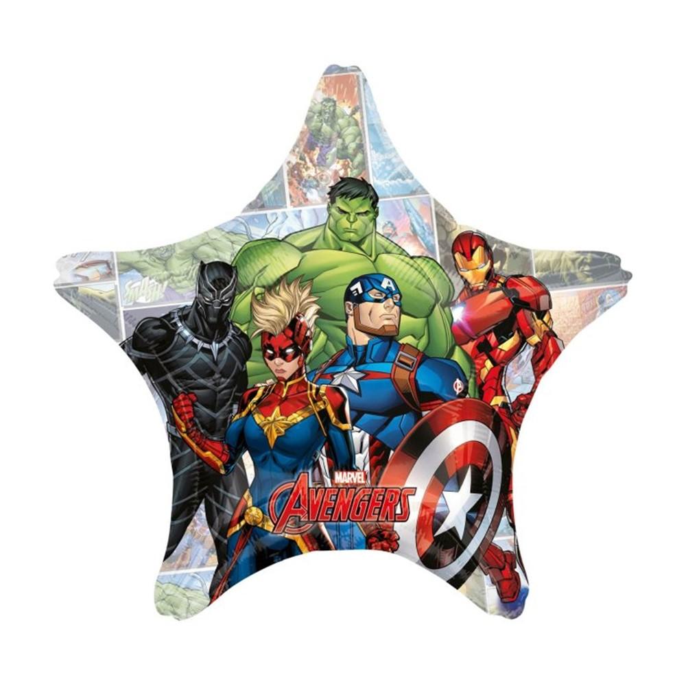 Globo de foil con forma de estrella de Los Vengadores de 80 cm