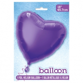 Globo de Foil Corazón Violeta 45 cm