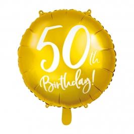 Globo de foil de 50 cumpleaños color Oro de 45 cm