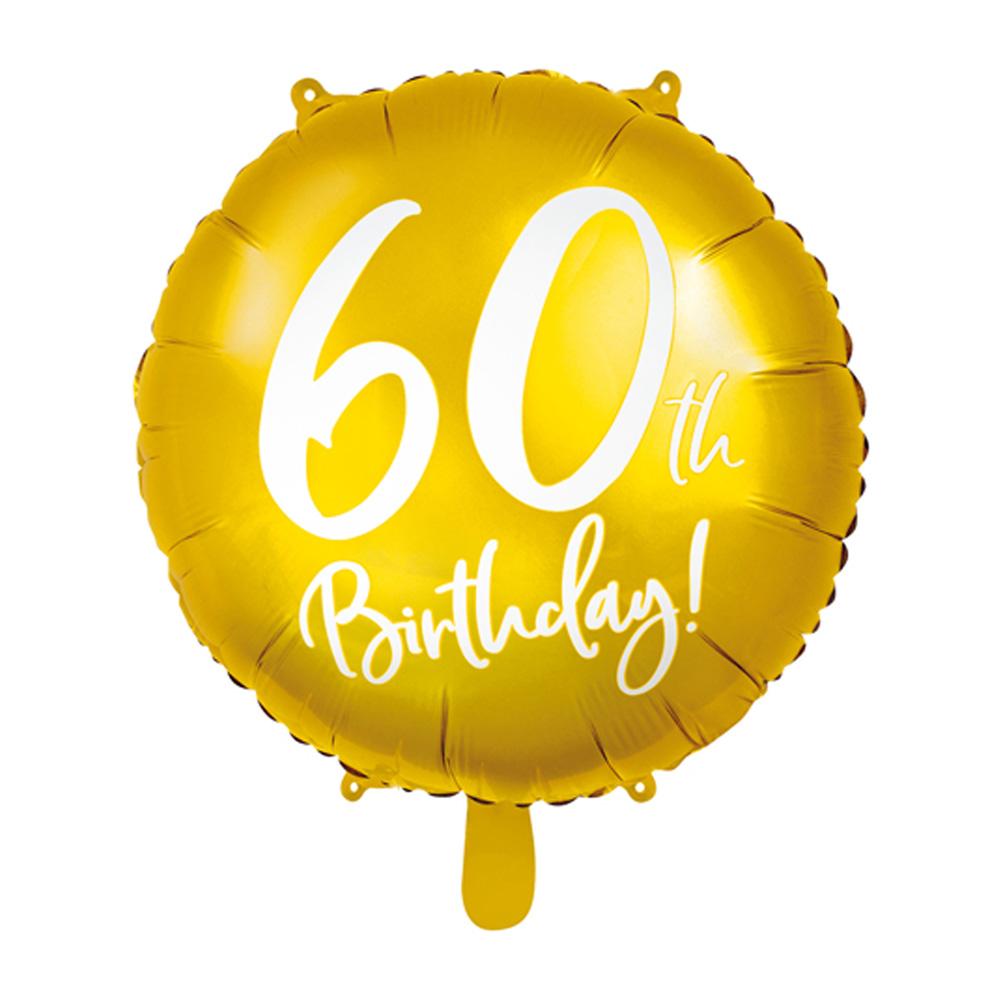 Globo de foil de 60 cumpleaños color Oro de 45 cm