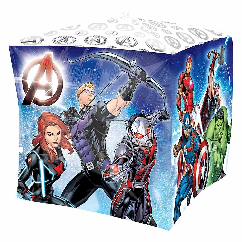 Globo de foil de Los Vengadores con forma de cubo de 38 cm