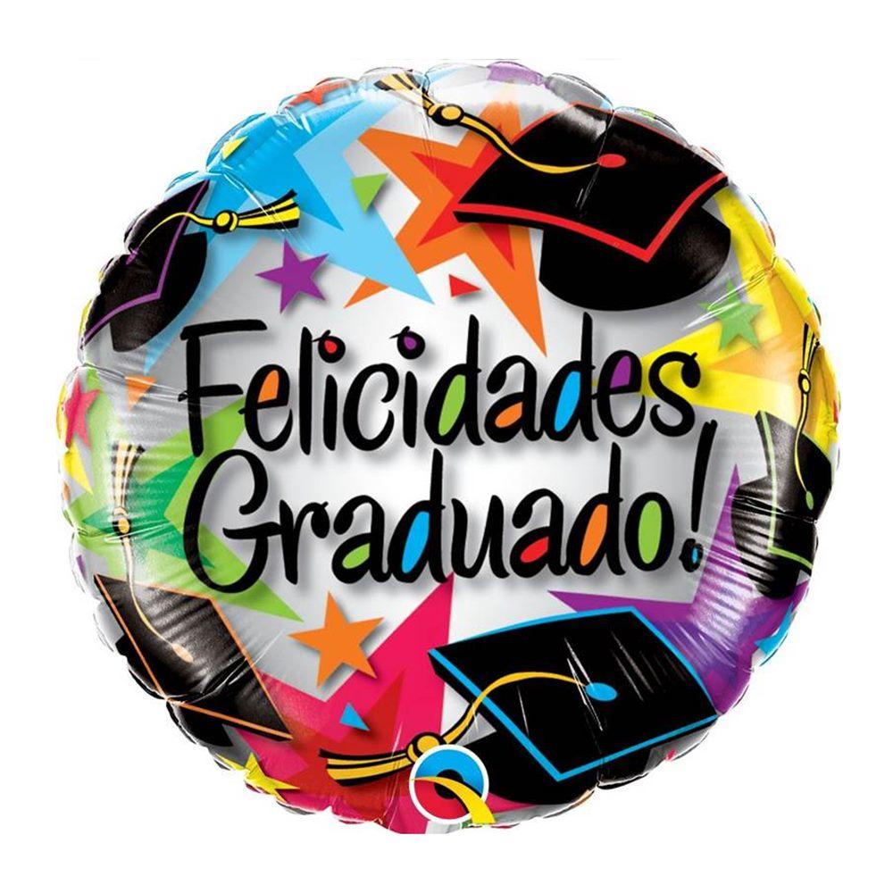 Globo de Foil Felicidades Graduado Estrellas