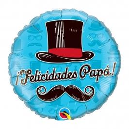 Globo de Foil Felicidades Papá 45 cm