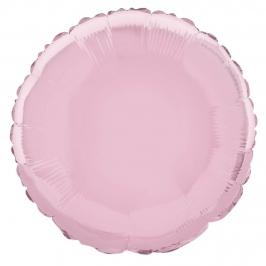 Globo de Foil Redondo Rosa Pastel 45 cm