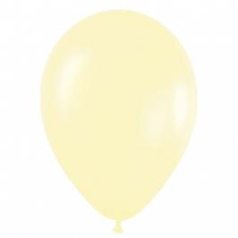 Pack de 10 globos de látex amarillo satinado