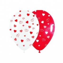 Bolsa de 10 globos Corazón