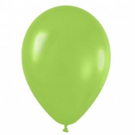 Pack de 10 globos de látex verde lima mate