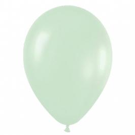 Pack de 12 Globos Verde Satinado 30 cm