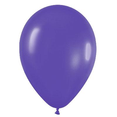 Pack de 10 globos de látex violeta cristal