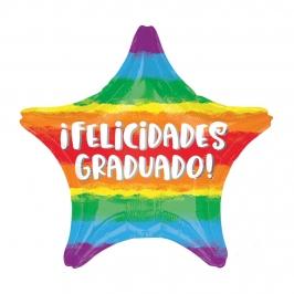Globo Estrella Felicidades Graduado