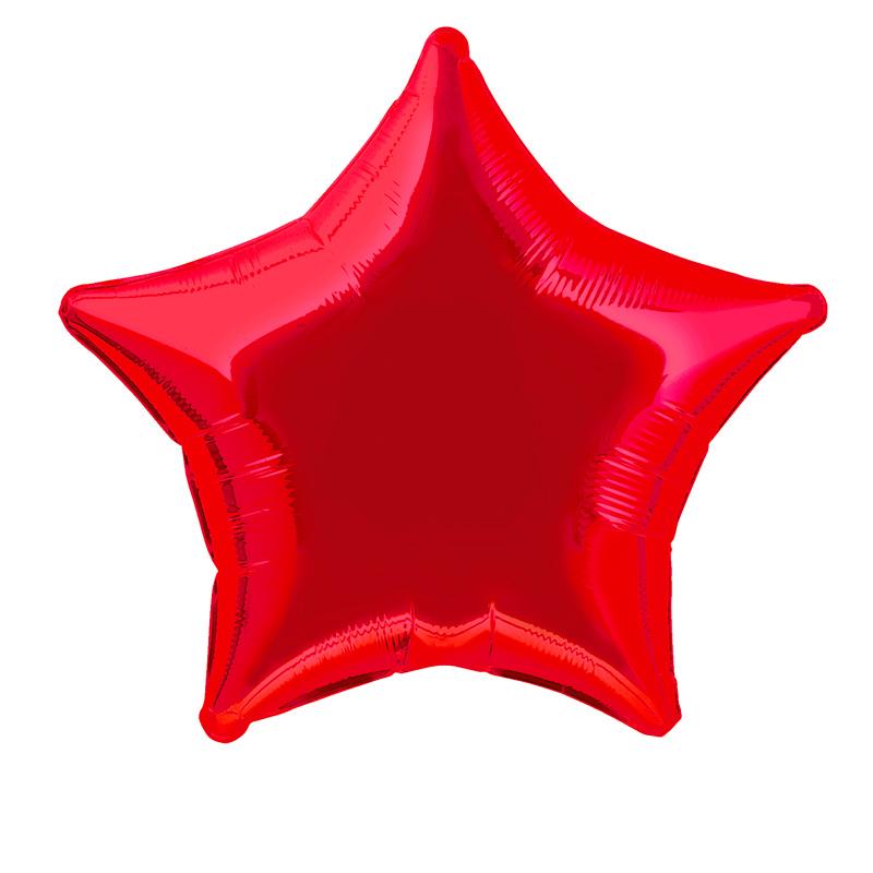 Globo Estrella Roja 50 cm