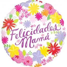 Globo Felicidades Mamá 45cm