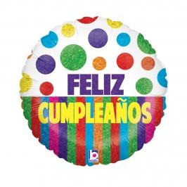 Globo feliz cumpleaños 45 cm