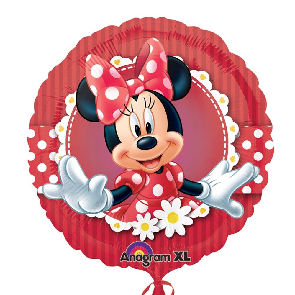 Globo Feliz Cumpleaños Minnie 43 cm