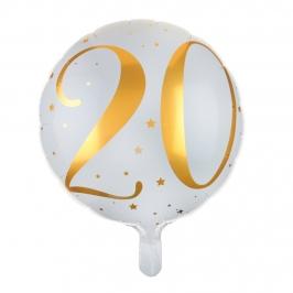 Globo Foil 20 años Oro 35 cm