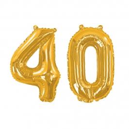 Globo Foil 40 años Oro