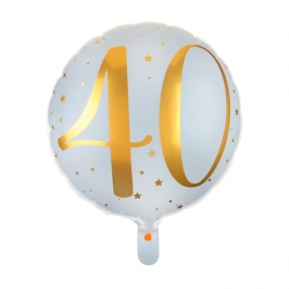 Globo Foil 40 años Oro 35 cm
