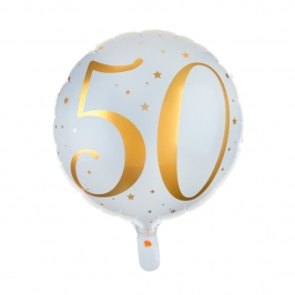 Globo Foil 50 años Oro 35 cm