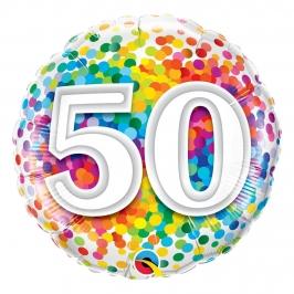 Globo Foil 50 Cumpleaños Multicolor 46 cm