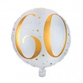 Globo Foil 60 años Oro 35 cm