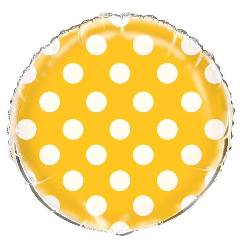 Globo Foil Amarillo con Lunares