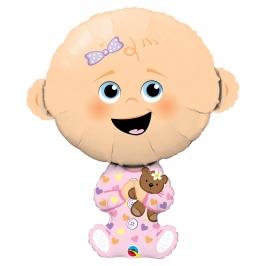 Globo Foil Bebé Niña 97 cm