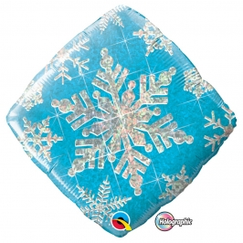 Globo Foil Copo de Nieve Holográfico 46 cm