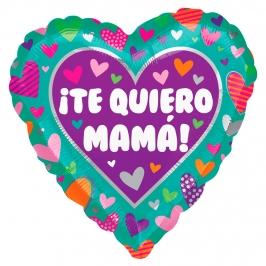 Globo Foil Corazón Te Quiero Mamá 43 cm