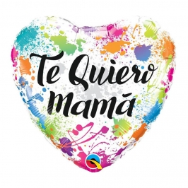 Globo Foil Corazón Te Quiero Mamá 45 cm