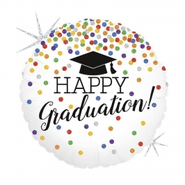 Globo foil Felicidades Graduado
