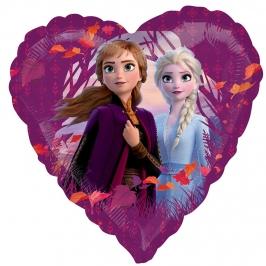 Globo Foil Frozen 2 Corazón 43 cm