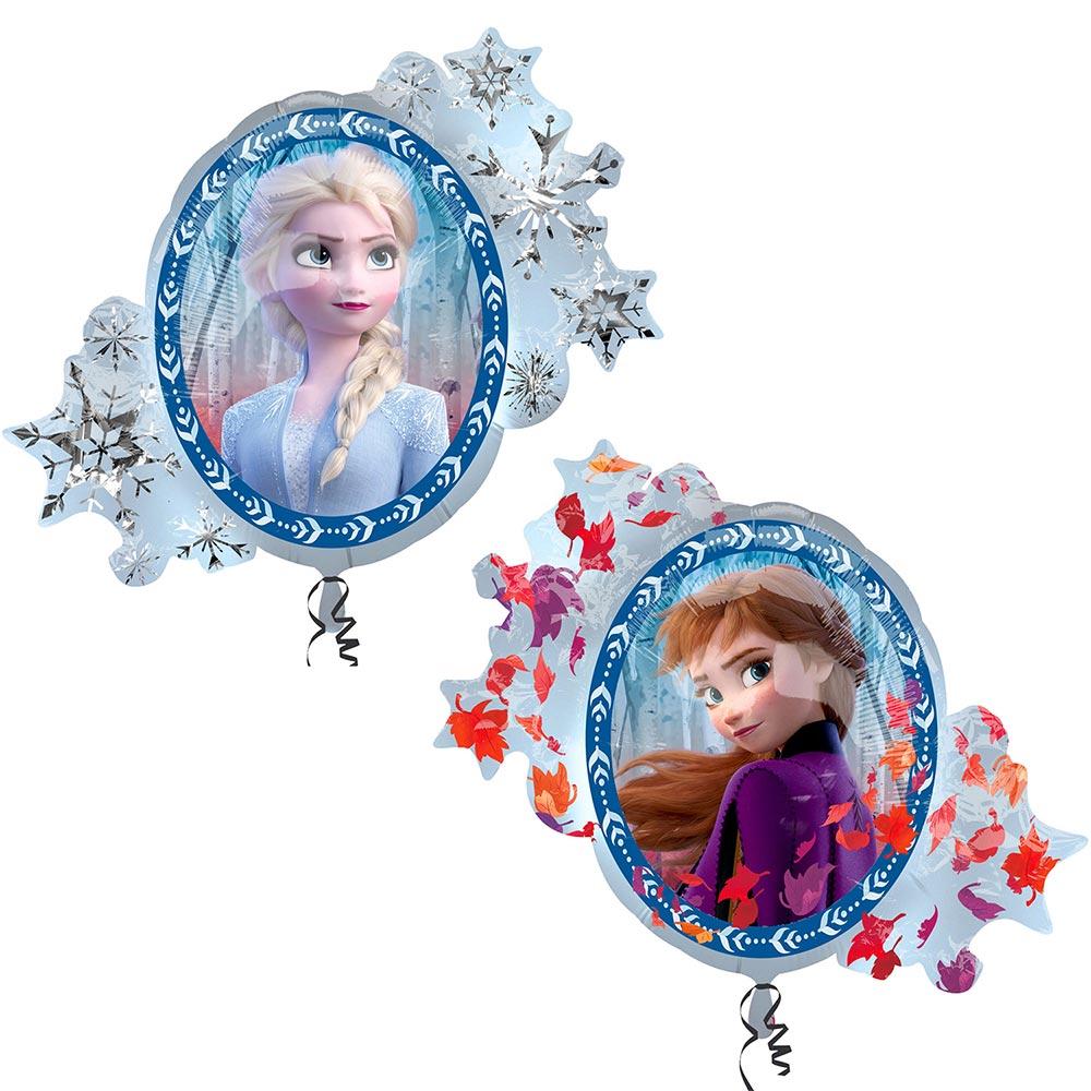 Globo Foil Frozen 2 Elsa y Anna 66 cm