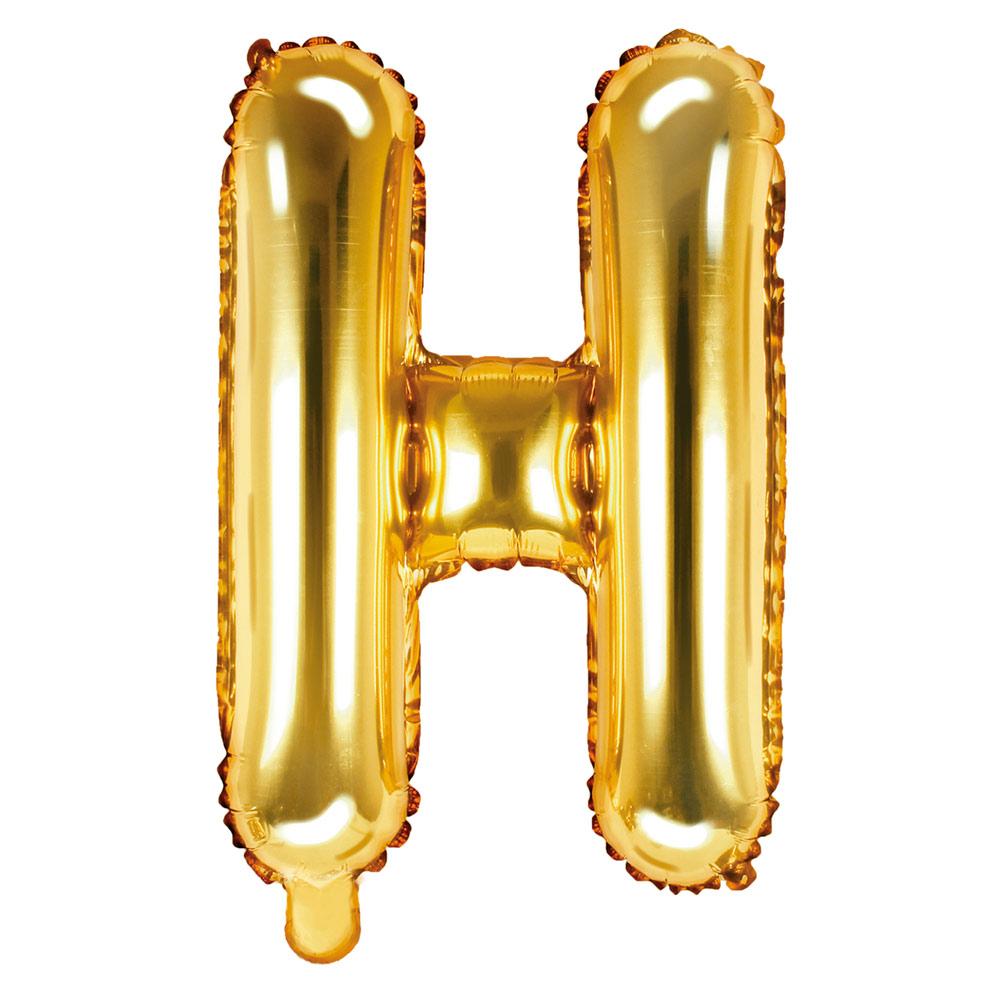 Globo Foil Letra H Dorado 35 cm